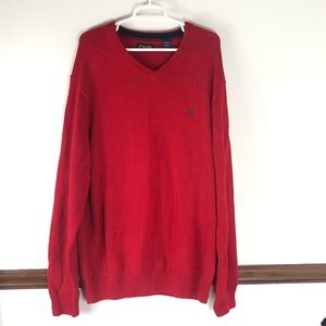 Men's Chaps v neck sweater size XLT Tall